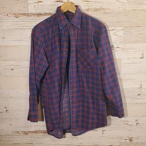 Puritan vintage long sleeve flannel print top